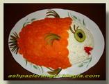 سالادالويه با تزئين ماهي قرمز